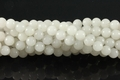 Synthetic White Quartz 8mm Round Beads 16""