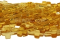 "Topaz"" Quartz"" 12x16mm Cross Shaped Beads 16"""
