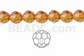 "Topaz ""Quartz"" 6mm Faceted Round Beads 50 pcs."