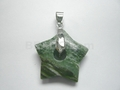 Tree Agate 25mm Star With Hole Pendant