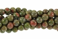 Unakite 8mm Round Beads 16""