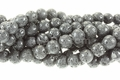 Volcano Black Lava 8mm Round Beads 16""