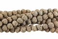 Volcano Brown Lava 8mm-9mm Round Beads 16""