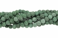 Volcano Green Lava 8mm-9mm Round Beads 16""