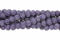 Volcano Purple Lava 8mm-9mm Round Beads 16""