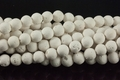 Volcano White Lava 9-10mm Round Beads 16""