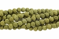 Volcano Yellow Lava 8mm-9mm Round Beads 16""