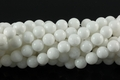 White Obsidian 8mm Round Beads 16""