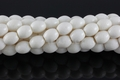 White Sponge Coral 10x12mm Rice Beads 16""