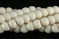 White Sponge Coral 14mm Rice Beads 16""