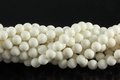 White Sponge Coral 8mm Round Beads 16""