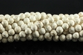 White Turquoise 8mm Round Beads 16""