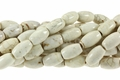 White Turquoise Howlite Magnesite 10x14mm Rice Beads 15.5""