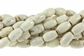 White Turquoise Howlite Magnesite 8x12mm Rice Beads 15.5""