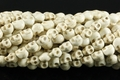 (HOT) White Turquoise Magnesite 10x8mm Skull Beads 15.5""