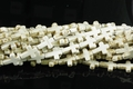 White Turquoise Magnesite 12x16mm Cross Shaped Beads 15.5""