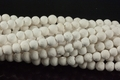 White Volcano Lava Stone 7-8mm Round Beads 15.5""
