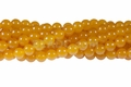 Yellow Chalcedony 8mm Round Beads 16""