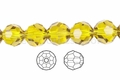 "Yellow Light Topaz Crystal 8mm Faceted Round 50 Beads (approx.15.5"")"