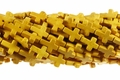 Yellow Magnesite 12x16mm Cross Shaped Beads 15.5""