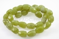 Yellow Olivine Jade 9x12mm Faceted Nugget Beads 15.5""