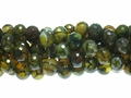Yellow Spinder 10mm Agate Faceted Round Beads