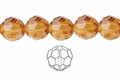 Yellow Topaz Crystal 12mm Faceted Round Beads 40 pcs.