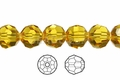 Yellow Topaz Crystal 4mm Faceted Round Beads 100 pcs.