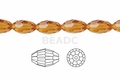 Yellow Topaz Crystal 4x6mm Faceted Rice Beads 72 pcs.