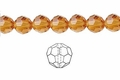 Yellow Topaz Crystal 6mm Faceted Round Beads 100 pcs.