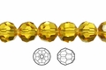Yellow Topaz Crystal 6mm Faceted Round Beads 72 pcs.