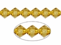 Yellow Topaz Crystal 8mm Faceted Bicone Beads 40 pcs.