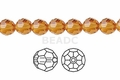 Yellow Topaz Crystal 8mm Faceted Round Beads 72 pcs.