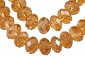 Yellow Topaz Crystal 8x10mm Faceted Rondelle Beads 72 pcs.