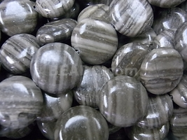 Zebra Agate 15mm Coin Beads 16""