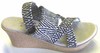 Island Slipper P7429 Women's Wedge - Black Multi