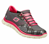 Skechers Flex Appeal Match Made - Grey / Hot Pink