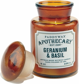 Paddywax Geranium and Basil Apothecary Candle