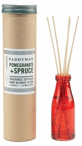 Paddywax Pomegranate and Spruce Large Vintage Jar Diffuser