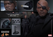 """12"""" Captain America The Winter Soldier Nick Fury 1/6th Scale Action Figure Hot Toys"""