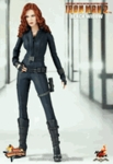 """12"""" Iron Man 2 Black Widow 1/6th Scale Action Figure Hot Toys"""