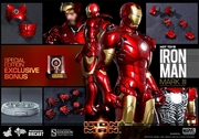 """12"""" Iron Man Mark III 1/6th Scale Action Figure Hot Toys Diecast Series (Mark 3) Special Exclusive"""