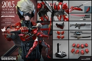 """12"""" Metal Gear Rising Revengeance Raiden Inferno Armor Version 1/6th Scale Action Figure Hot Toys 2015 Toy Fair Exclusive"""