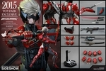 "12"" Metal Gear Rising Revengeance Raiden Inferno Armor Version 1/6th Scale Action Figure Hot Toys 2015 Toy Fair Exclusive"