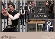 """12"""" Star Wars Episode IV A New Hope Han Solo 1/6th Scale Action Figure Hot Toys Special Exclusive"""