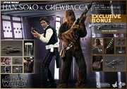 """12"""" Star Wars Episode IV A New Hope Han Solo Chewbacca Collectible Set 1/6th Scale Action Figure Hot Toys"""