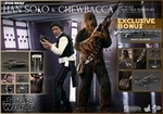 "12"" Star Wars Episode IV A New Hope Han Solo Chewbacca Collectible Set 1/6th Scale Action Figure Hot Toys"