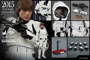 """12"""" Star Wars Episode IV A New Hope Luke Skywalker Stormtrooper Disguise Version 1/6th Scale Action Figure Hot Toys 2015 Toy Fair Exclusive"""