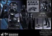 "12"" Star Wars Force Awakens First Order TIE Pilot 1/6th Scale Action Figure Hot Toys TIE Fighter Pilot"