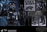 """12"""" Star Wars Force Awakens First Order TIE Pilot 1/6th Scale Action Figure Hot Toys TIE Fighter Pilot"""